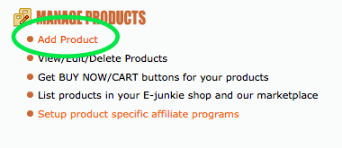 manage products ejunkie