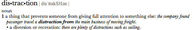 The Definition of Distraction